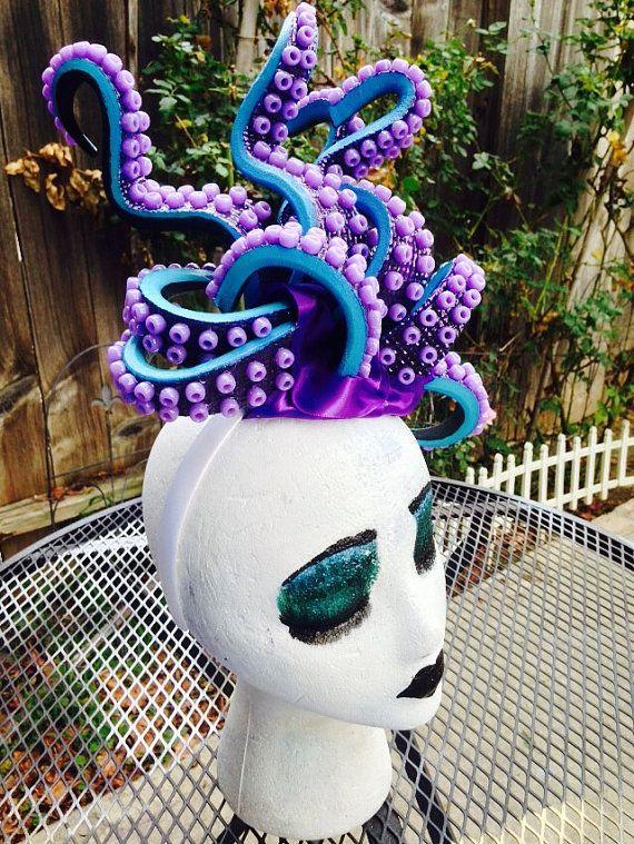 Ursula headpiece / Ursula headband / Ursula Costume / Octopus Fascinator / Tentacles headpiece / Sea Goddess Fascinator More
