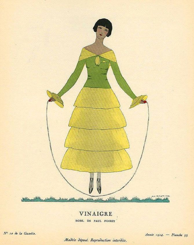 Andre Edouard Marty - Vinaigre - Robe de Paul Poiret - 1924