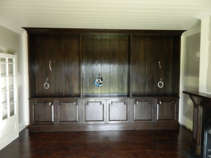 Custom Design Built In Cabinetry - French Oak - French Polish Finish