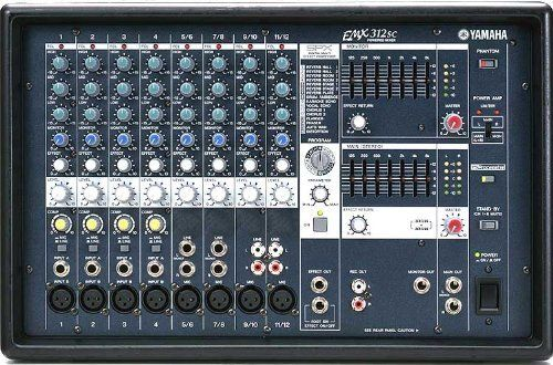 Yamaha EMX312SC Powered Mixer 300 Watt Stereo 12 Channels 3 Band Equalizer Lightweight Design by Yamaha. $469.99. The Yamahas EMX-Series Powered Mixers, features Three Models EMX512SC 500 Watts, EMX312SC 300 Watts and EMX212S 200 Watts for Large Vanues and Odiences and Outdoor Sound. The EMX212S, EMX312SC, and EMX512SC all feature a selection of 16 top-quality Yamaha SPX effects - including reverb, echo, chorus, flanger, phaser, and even distortion - that can ad...