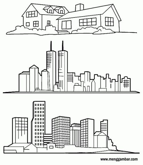 Gedung Di 2020 Dengan Gambar Gedung Gambar Warna