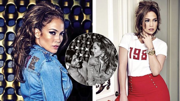 Jennifer Lopez cuddles up to shirtless young male model in hot new Guess...