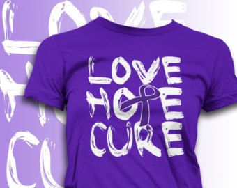Fashionable Fibromyalgia Shirts Alzheimer's Chiari Crohn's Lupus Epilepsy Cystic Fibrosis Pancreatic Cancer Purple Awareness Women's Tee