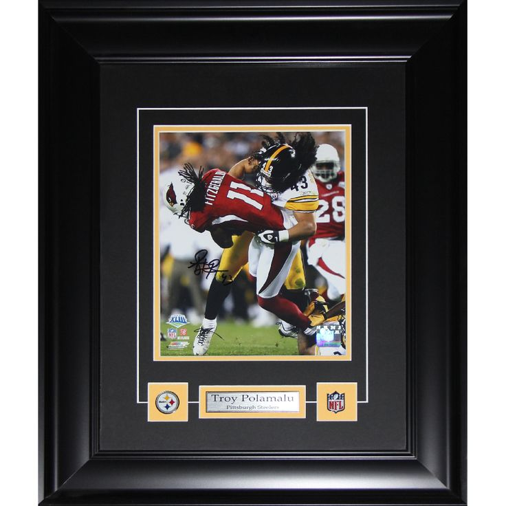 midway troy polamalu pittsburgh steelers signed 8 inch x 10 inch frame