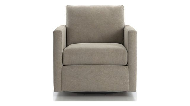 Barrett Track Arm Swivel Chair Reviews Crate And Barrel
