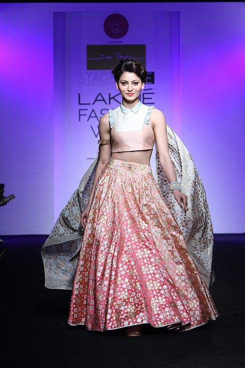 By designer I Am Design. Shop for your wedding trousseau, with a personal shopper & stylist in India - Bridelan, visit our website www.bridelan.com #Bridelan #iamdesign #lakmefashionweek