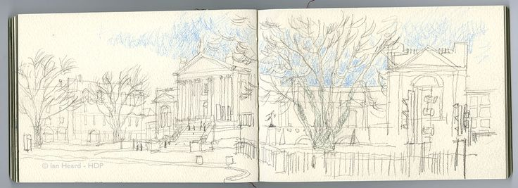 London Sketches: Tate Britain, Milbank.