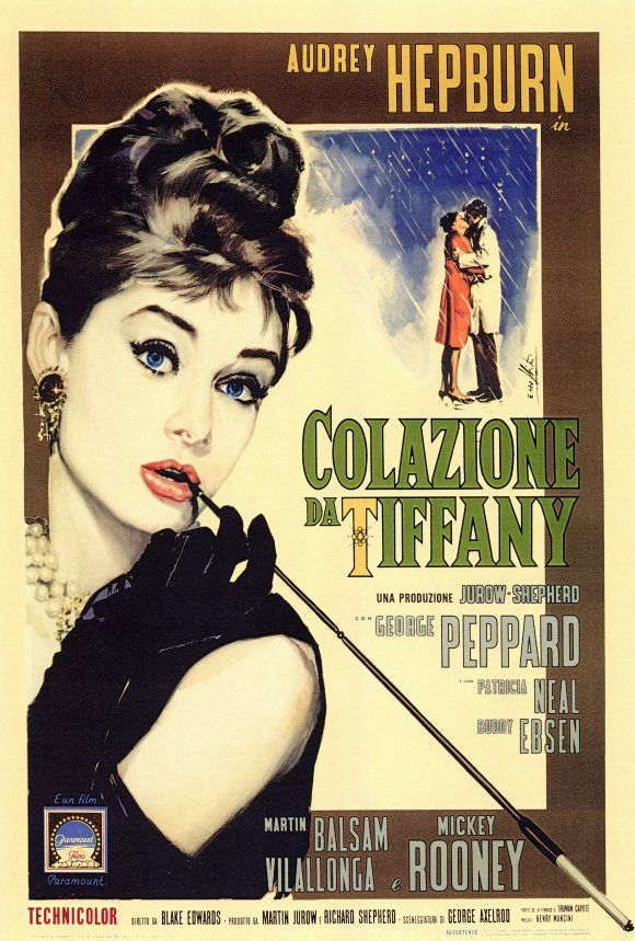 breakfast at tiffany 39 s poster 27x40 italian holly audrey rare golightly hepburn breakfast. Black Bedroom Furniture Sets. Home Design Ideas