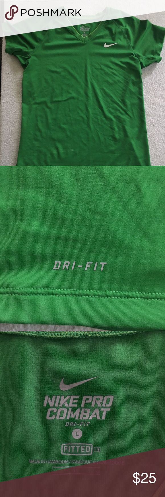 Nike Dri Fit Shirt Nike pro combat dri-fit shirt. Size large Nike Tops Tees - Short Sleeve