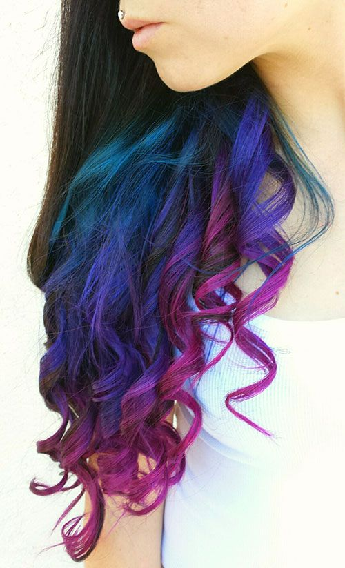 Best 25 colored hair tips ideas on pinterest dyed tips dip long brown curly hair with colored tips kinda how i have mine at the moment solutioingenieria Gallery