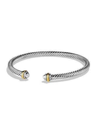 Cable Classics Bracelet with Gold by David Yurman at Neiman Marcus.
