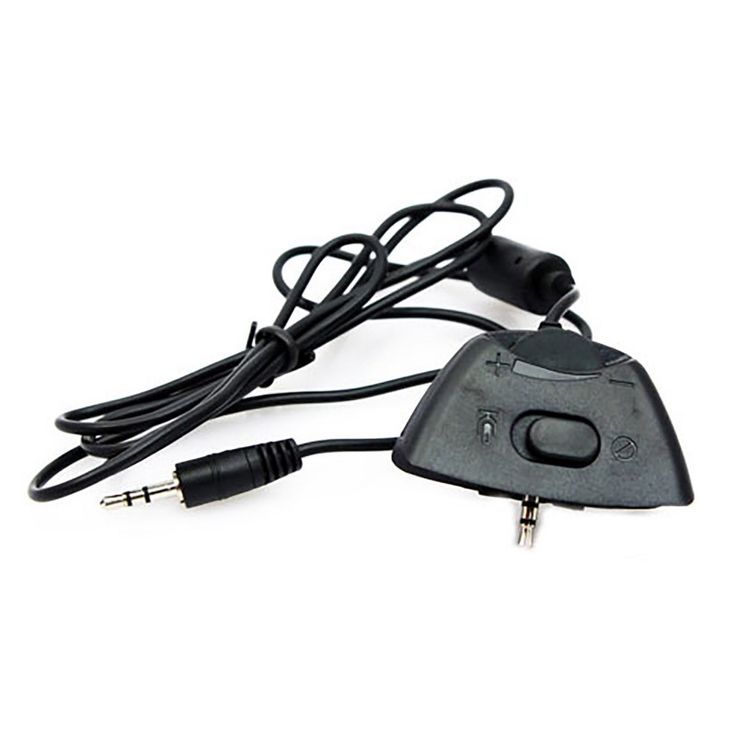 Live Puck Headset Cable Adapter for Xbox 360 (TTX Tech)  https://www.retrogamingstores.com/gaming-accessories/xbox-360-repair-part-live-puck-headset-cable-adapter-ttx-tech  Connects the X1 headphones to Xbox 360 controller for Xbox Live chat