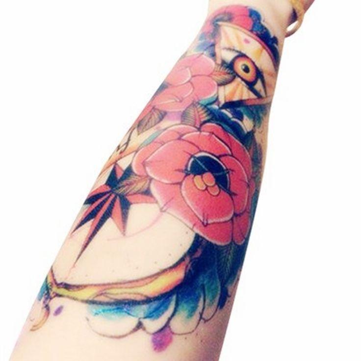 Боди-Арт Красота Макияж Розовый Сексуальный Треугольник Глаза Татуировки 8D Водонепроницаемый Временные Татуировки Наклейки