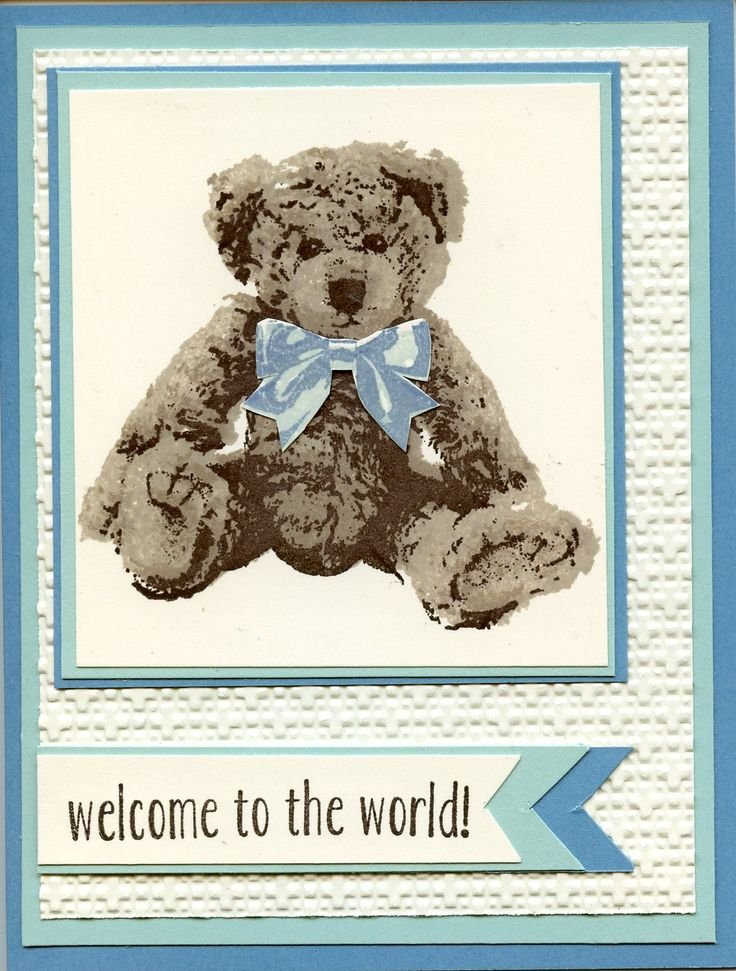 Stampin Up Baby Bear