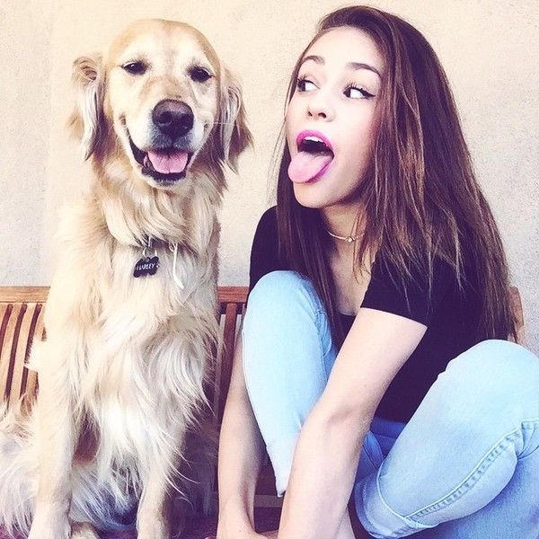 "@thaliabree on Instagram: ""Life is better with a dog??"" ❤ liked on Polyvore featuring thalia bree"