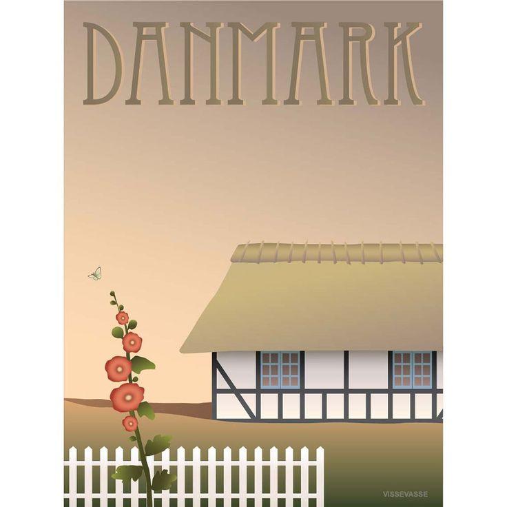 DANMARK- Bondehus, 50x70 cm