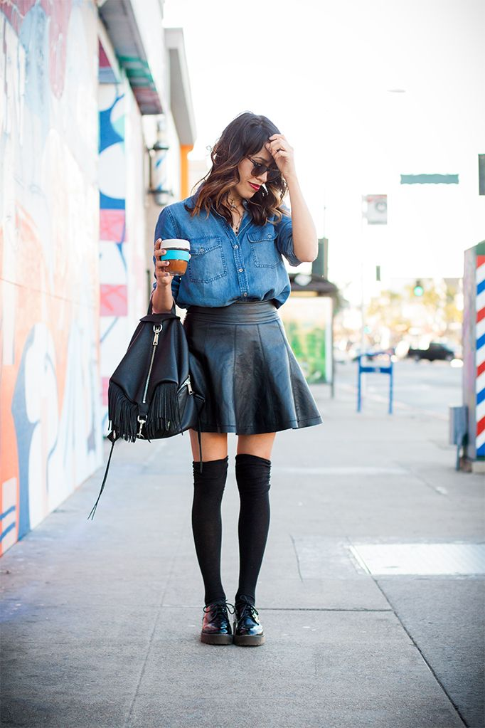 20 Ways to Look Badass in a Leather Skirt This Spring | StyleCaster