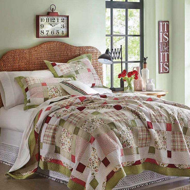 When You Want Your Bedroom To Feel Like Youve Walked Into A Country Bed Farmhouse QuiltsFarmhouse ChicBedroom