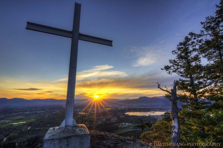 Sunset at the cross, Mt Tzouhalem