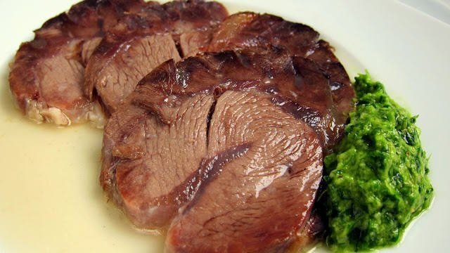 Turn Tough Meat into Jelly: Italian Boiled Beef with Rustic Green Sauce Boiling meat in the pressure cooker can turn chewy nerves and ligaments from a cheap cut of meat into gelatin in about an hour. What really makes this dish