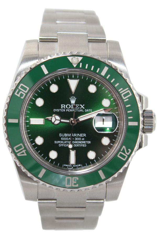 Rolex Oyster Perpetual Submariner Date 40mm Stainless Steel Green Ceramic Bezel Green Dial Ref 116610 Rolex Rolex Watches Submariner