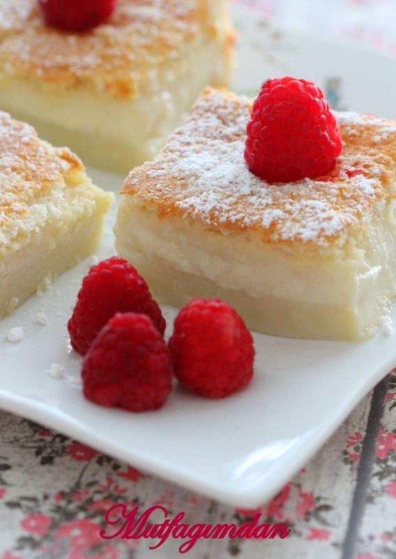 Mutfağımdan: Sihirli Vanilyali Kek- Magic Custard Cake - Videolu Tarif...