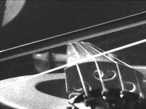 Check out this awesome slow-motion video of a violin G-string.  Notice how the energy travels in a circular motion once it gets going.  Wow!