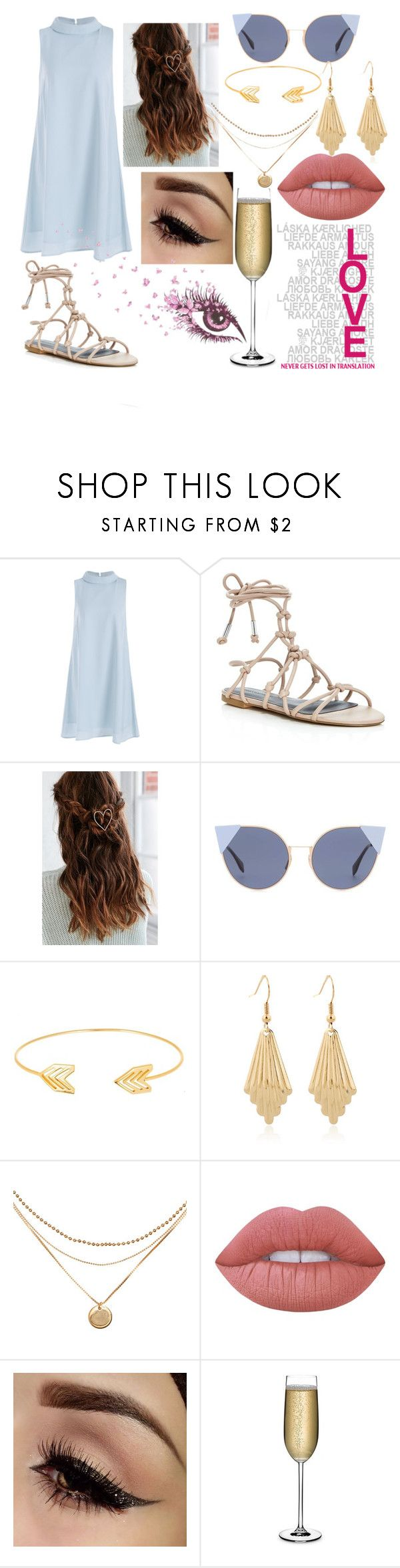 """""""Anna"""" by naleyp10smile on Polyvore featuring Rebecca Minkoff, Urban Outfitters, Fendi, Lord & Taylor, Lime Crime and Nude"""