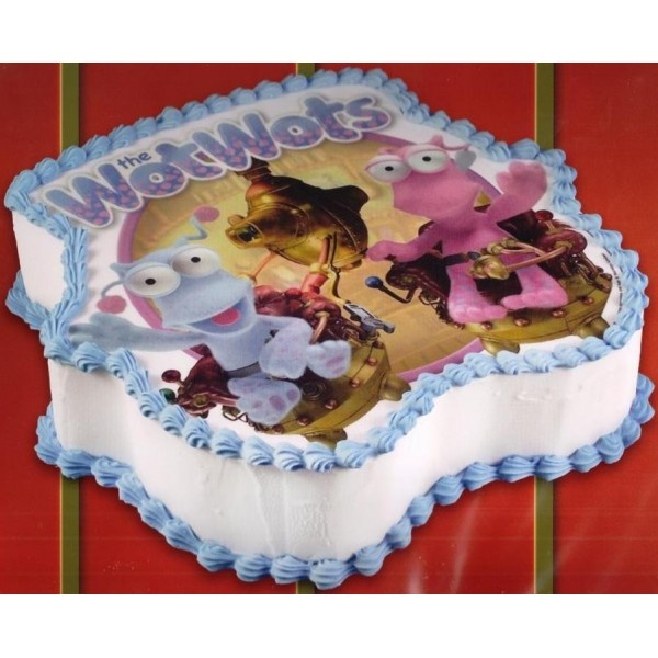 Edible WotWots cake image