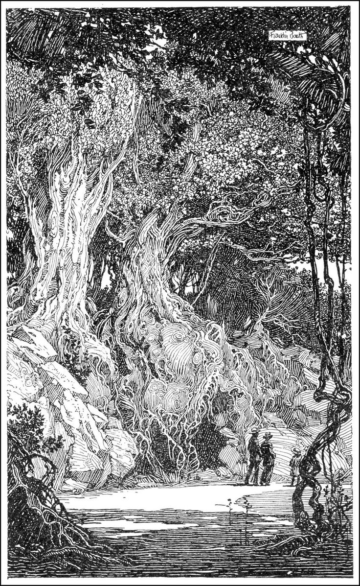 Franklin Booth (1874-1948): Boots Landscape, Wood, Style, Pens And Ink Drawings, Magazine Illustration, Time Illustrations, Drawings Folio, Drawings Compos, Magazines Illustrations