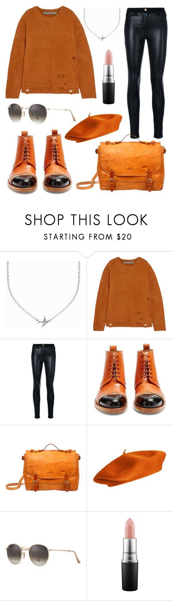 """""""Untitled #2196"""" by avrilandd ❤ liked on Polyvore featuring Minnie Grace, Raquel Allegra, Versace, Maison Margiela, Old Trend, Ray-Ban and MAC Cosmetics"""