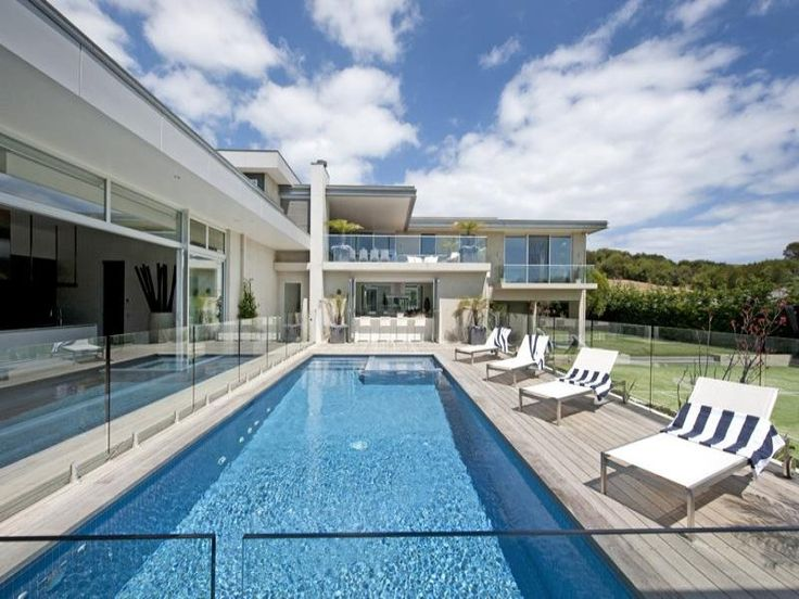 Pool Area - Love the Spotted Gum decking that has aged.