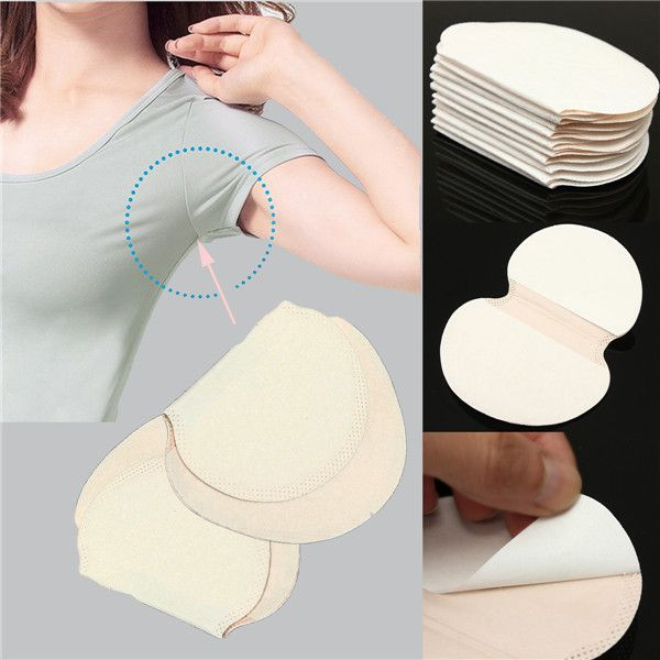 50Pcs Portable Armpit Underarm Absorbing Sweat Pads Anti Perspiration at Banggood