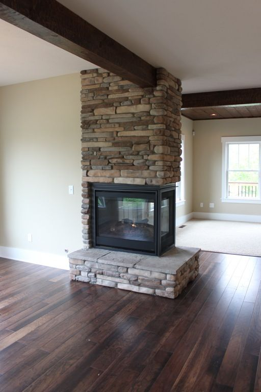 Three Way Fireplace Joyner Homes In 2019 Home