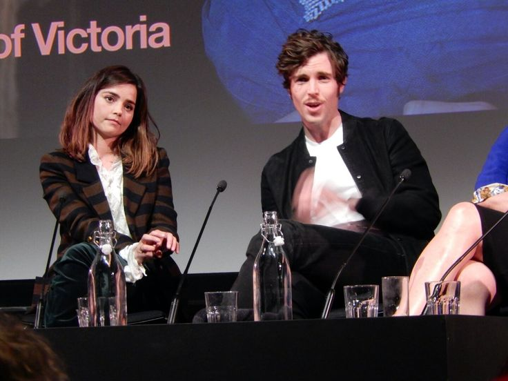 Jenna Coleman and Tom Hughes at the BFI Fest Victoria panel, April 8, 2017.