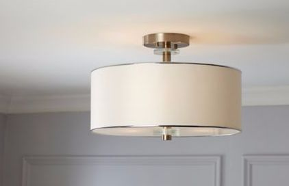 Add a touch of elegance to any room with the CANVAS Lyndon Semi-Flush Mount
