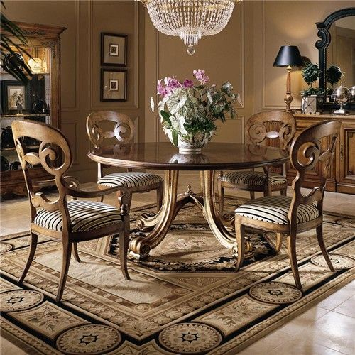 Consulate Hortense Round Dining Table And Chair Set By Century