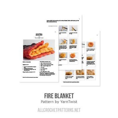 Buy Fire blanket crochet pattern - Allcrochetpatterns.net