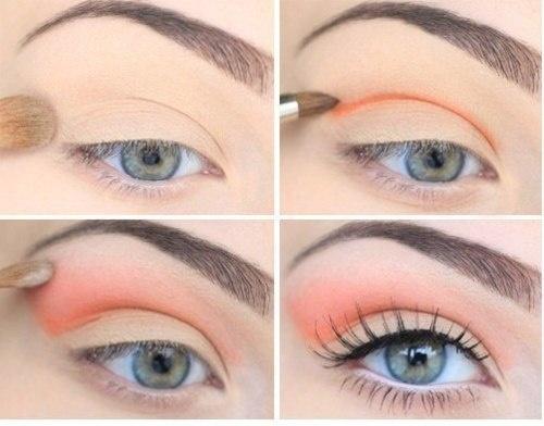 Perfect for spring/summer!: Make Up, Spring Makeup, Color, Makeup Ideas, Blue Eye, Eyeshadows, Eyemakeup, Peaches, Eye Makeup Tutorials