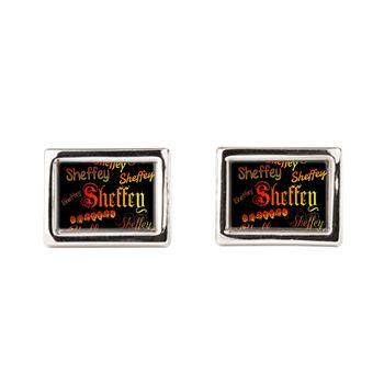 Sheffey Fonts - 9676 - on black background  men's accessories