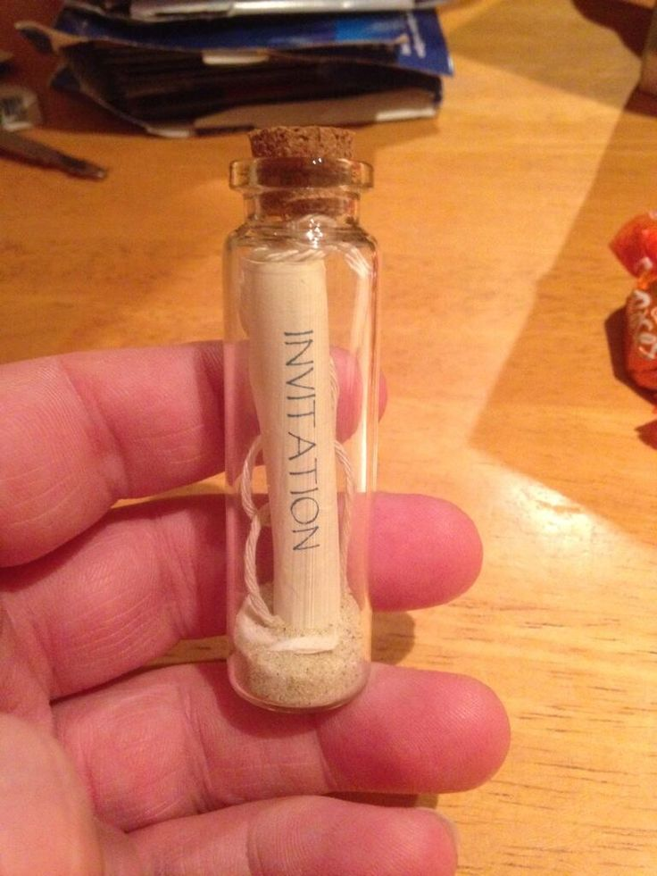 Wedding invitation in a bottle!