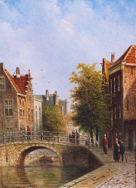Johannes Franciscus Spohler (Rotterdam 1853-1894 Amsterdam) Dutch town - Dutch Art Gallery Simonis and Buunk Ede, Netherlands.