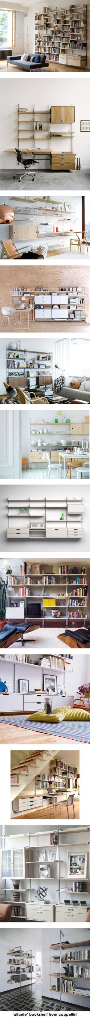 wall shelving systems by joclin on Polyvore featuring home, furniture, storage & shelves, bookcases, shelf furniture, modular shelves, modular bookcase, shelf units, modular shelving systems and modular bookshelves