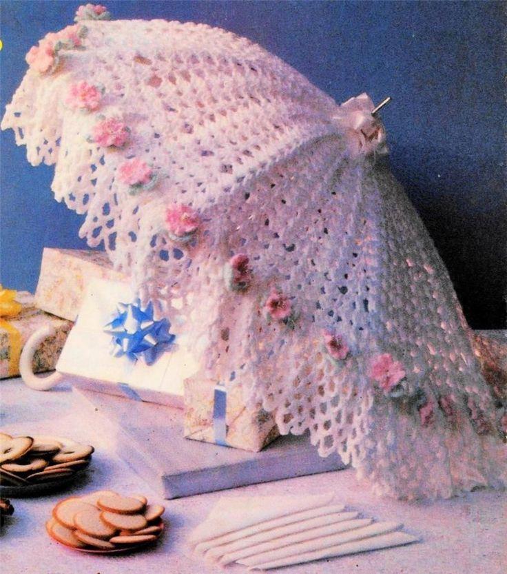 Crochet Prety Bridal Shower Umbrella Amp Rosettes Doilies
