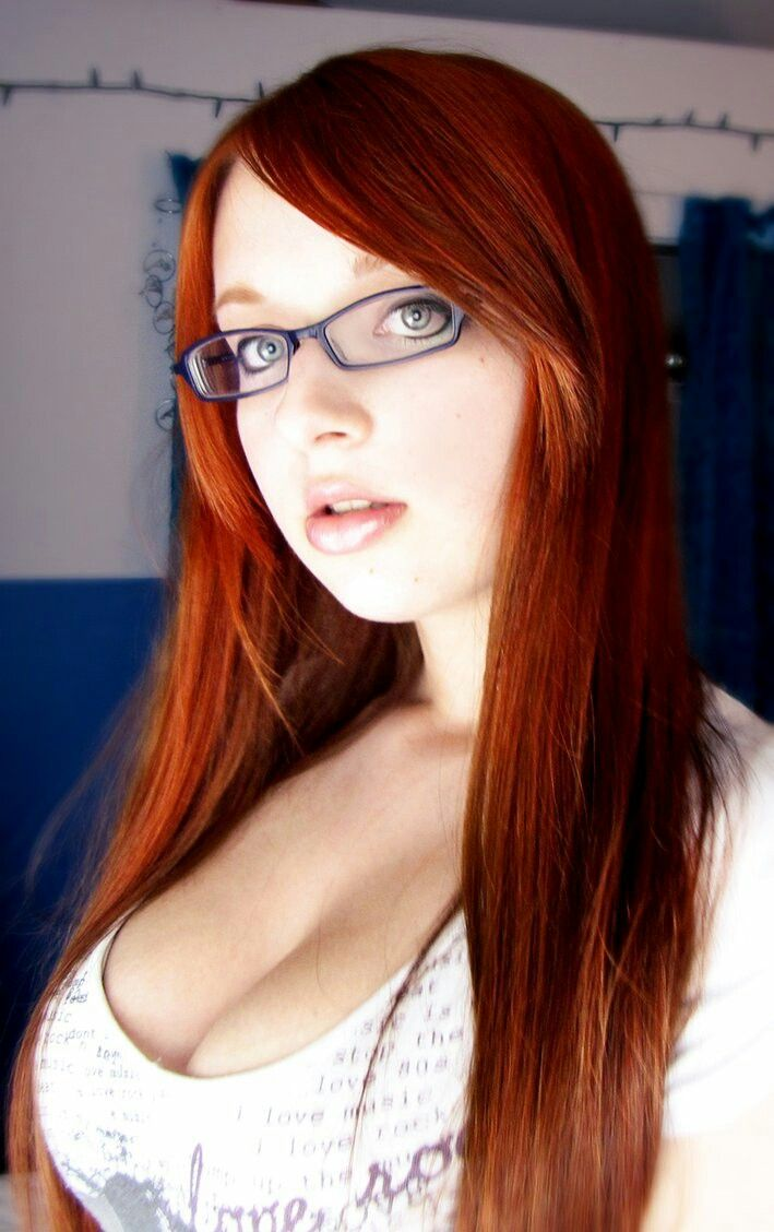 Hot redhead with glasses