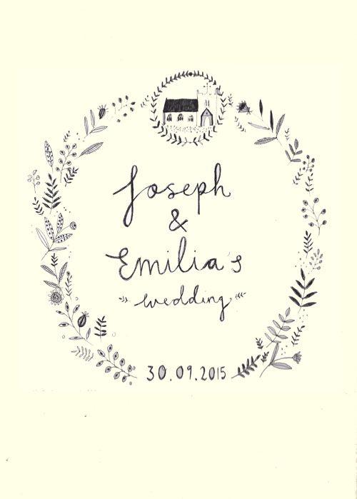 Wedding invitation design  Katt Frank  www.kattfrank.com