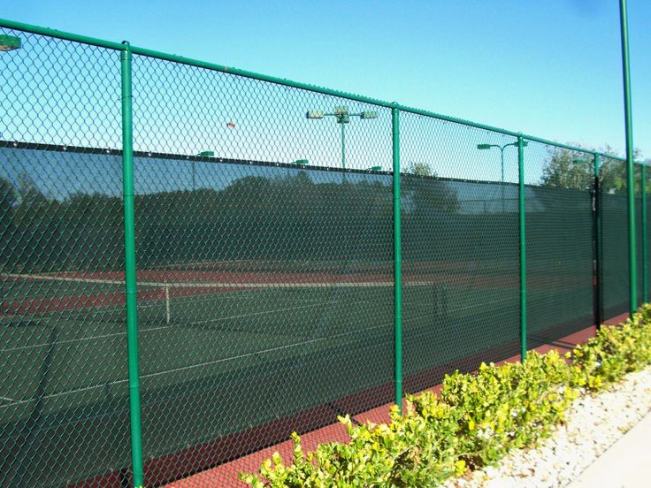 Chain link fencing for tennis court area | Mossy Oak Fence