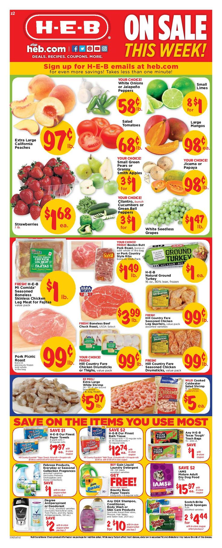 HEB Weekly Ad June 21 – 27, 2017 – Grocery, HEB weekly circular arrives almost each week but quite often people the Grocery, HEB ad plus they are quick to throw it out. Checking the ads each and every week and clipping the coupons that come within the weekly circulars can really be an incredibly rewarding experience. Grocery, HEB regularly includes coupons which could equate his up to 50% off your purchase. Which means you could attempt out a lot of the hottest a