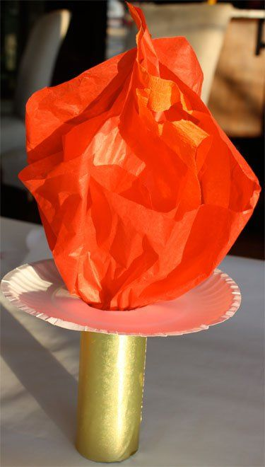 Pin for Later: 11 Ways to Get Your Kids Into the Olympic Spirit Make a DIY Olympic Torch Get fired up for the opening ceremonies with a realistic (but safe) tissue paper torch.
