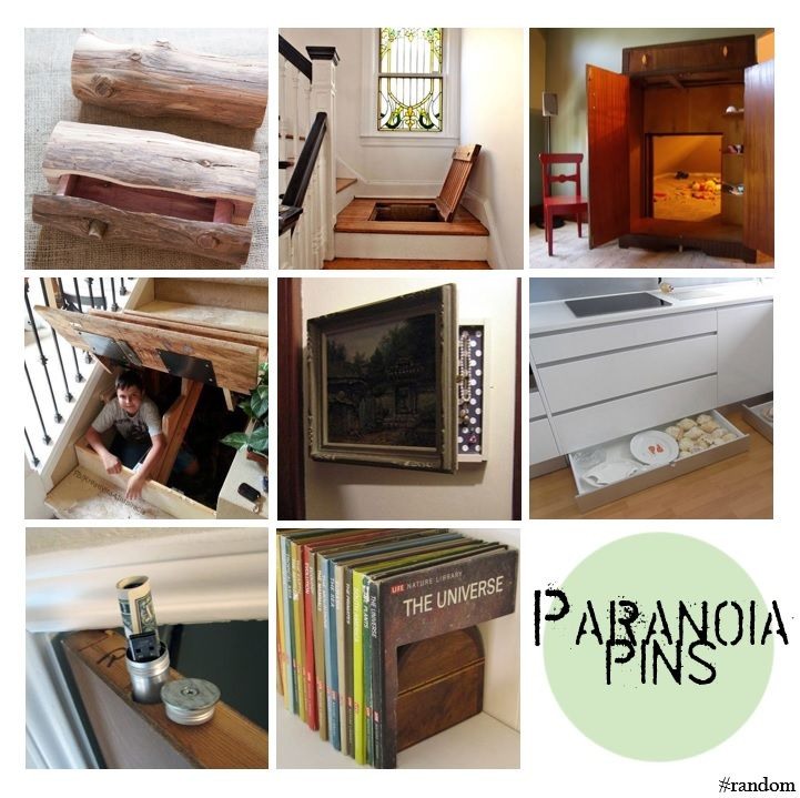 Paranoid?? Ideas on how to keep your secrets, secrets! Hiding place ideas.